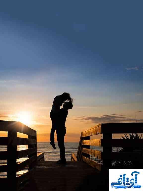 عکس عشقولانه زیبا,عکس لب گرفتن عاشقانه,عکس عشق برای پروفایل تلگرام, www.avtaf.com