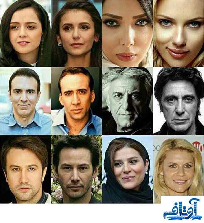 شباهت بازیگران ایرانی و بازیگران هالیوود + عکس